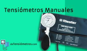Tensiómetros manuales (Esfigmomanómetros)